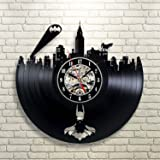 Batman Gotham City Logo Best Wall Clock - Decorate your home with Modern Large Superhero Art - Gift for friend, man and boy - Win a prize for a feedback