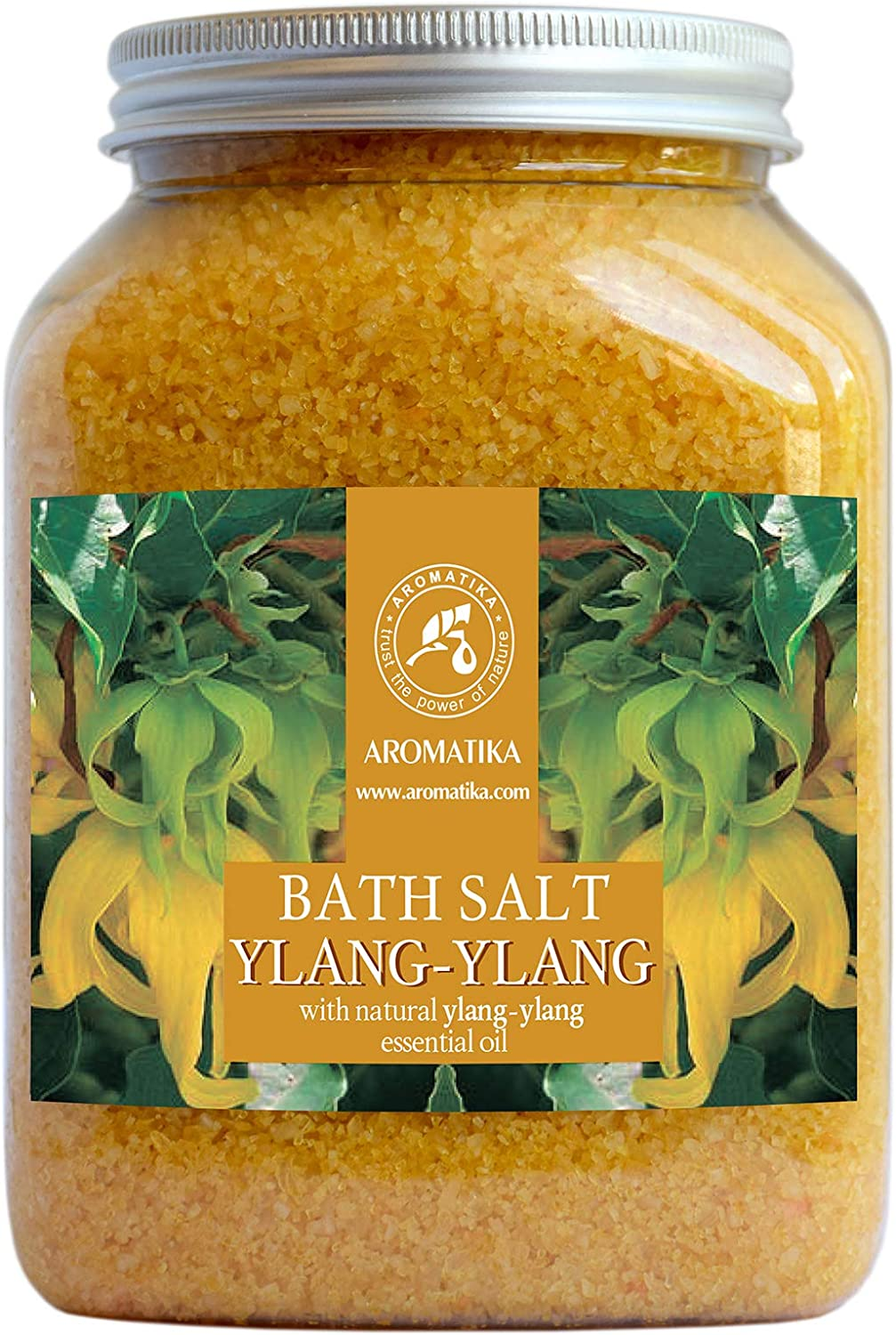 Ylang Ylang Bath Salts 46oz - 100% Natural Essential Ylang Oil - Best for Good Sleep & Relaxation - Bath Detox for Women - Bathing - Wellness - Beauty - Relaxation - Aromatherapy - Spa