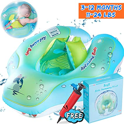 63992e3573 Baby Swimming Training Float, Inflatable Infant Swim Float Ring with Safety  Double Airbags for Learn to Swim U-Shape Swim Vests Bathtub Pools Swim  Trainer