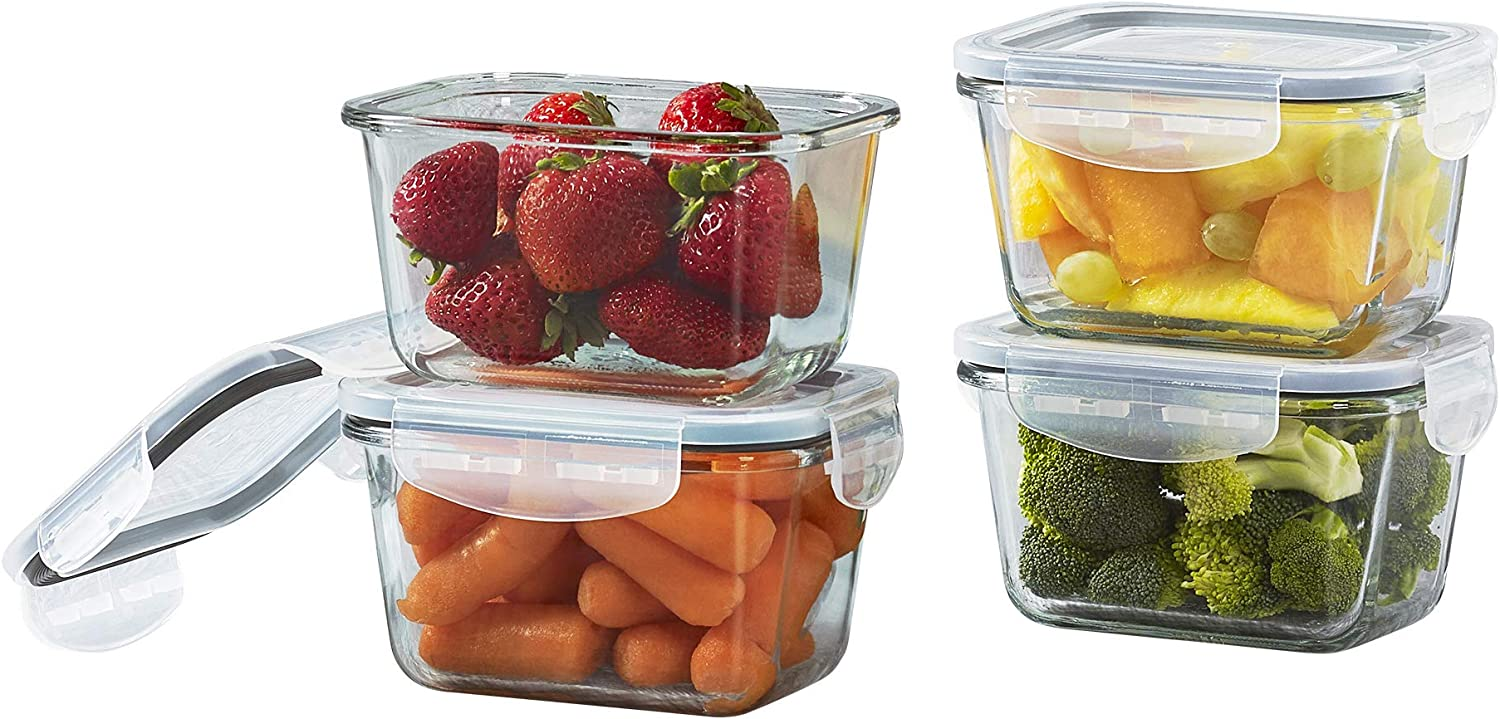 Mason Craft & More V1536 Food Storage container, 15 OUNCE SET, Clear