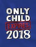 Fun Only Child Expires 2018 - Elder Sibling Toddler Kids T-Shirt 2T Pink