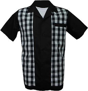 Rockabilly Fashions - Camisa casual - Básico - para hombre ...