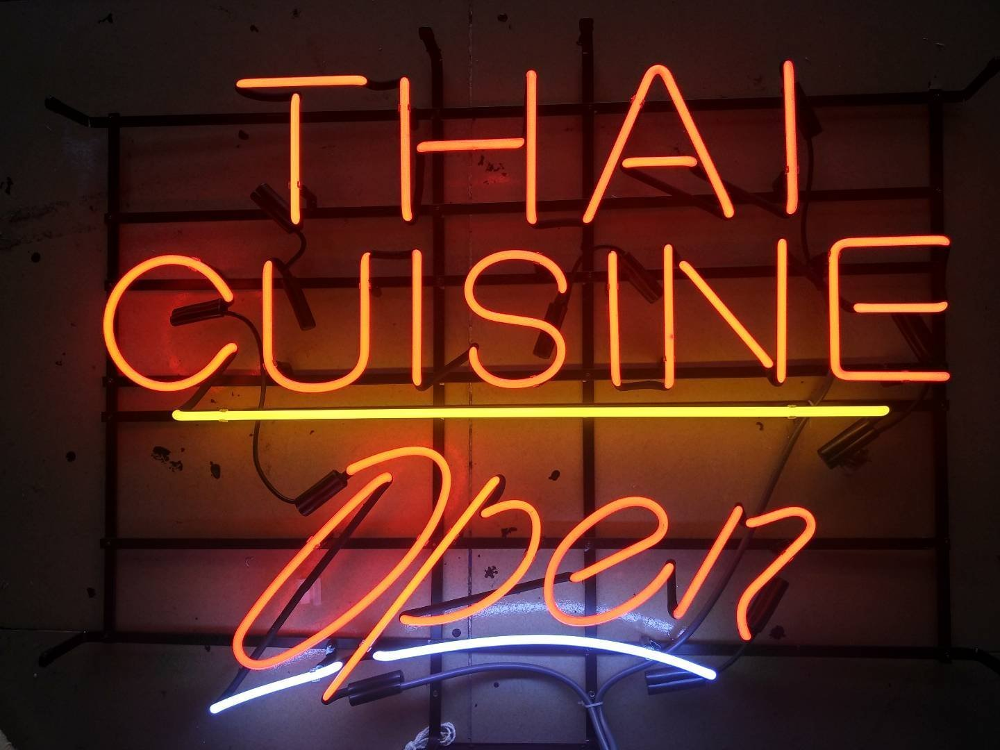 Desung Brand New 17''x13'' Thai Cuisine Open Neon Sign (Various sizes) Beer Bar Pub Man Cave Business Glass Neon Lamp Light DB24 by DESUNG