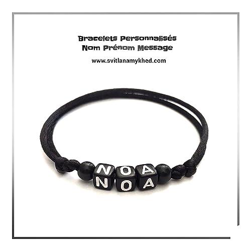 Pulsera NOA con nombre, nombre, mensaje (reversible ...