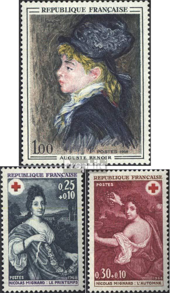 nuevo con goma original 1968 sellos especiales completa.edici/ón. Prophila sellos para coleccionistas Francia 1643,1647,1648
