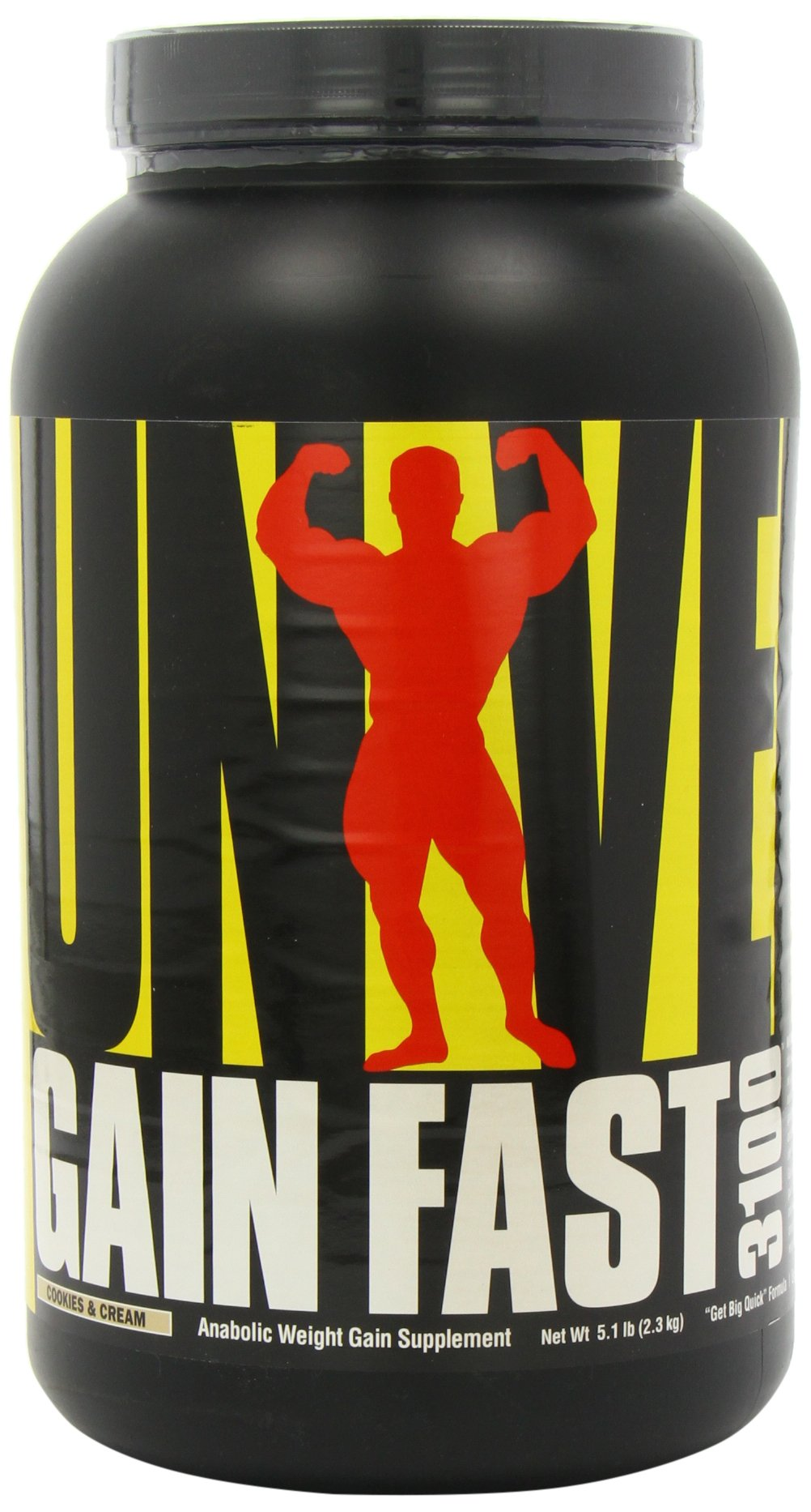 Universal Nutrition Gain Fast 3100, Cookies and Cream, 5.1-Pounds by Universal Nutrition (Image #10)