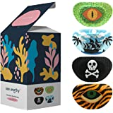 See Worthy Adventure Eye Patches, Innovative Shape, Smart Adhesive Technology, Breathable Material and Fun Designs, (48 per Box) (Regular Size)