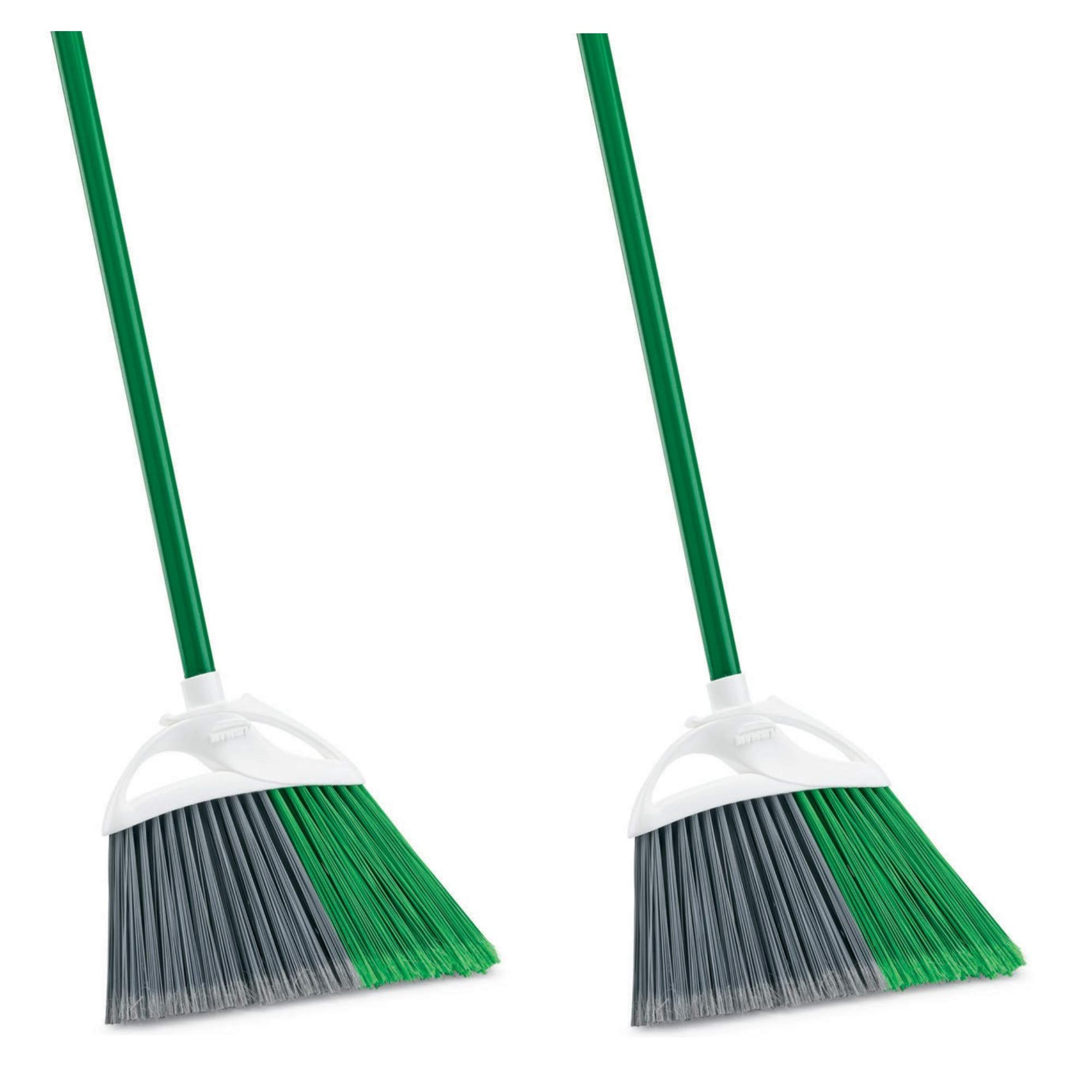 Libman 201 Precision Angle Broom with Recycled Broom Fibers, 2 Pack