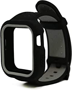 Apple Watch Series 5/4 Band and Case Compatible with Iwatch 44MM 42MM for Men and Women Smart Watch Accessories, Anti-Scratch Protective Replacement Woven Silicone Sports Wristband and Cover