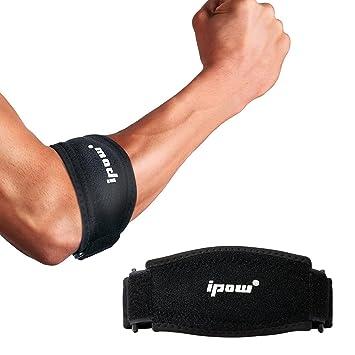 IPOW [2 unids] - Codera almohadilla ajustable para tendinitis compresión y epicondilitis, Codera codo de antebrazo para tenista y golfista, hombre y ...