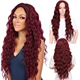 "VIMIKID 30"" 75cm Long Straight Middle Parting Heat Resistant Synthetic Full Hair Party Cosplay Costume Wig"