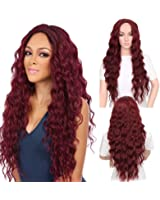 """VIMIKID 30"""" 75cm Long Straight Middle Parting Heat Resistant Synthetic Full Hair Party Cosplay Costume Wig"""