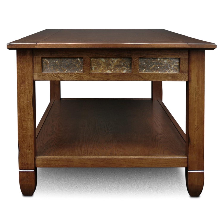Amazon.com: Slatestone Oak Storage Coffee Table   Rustic Oak Finish:  Kitchen U0026 Dining