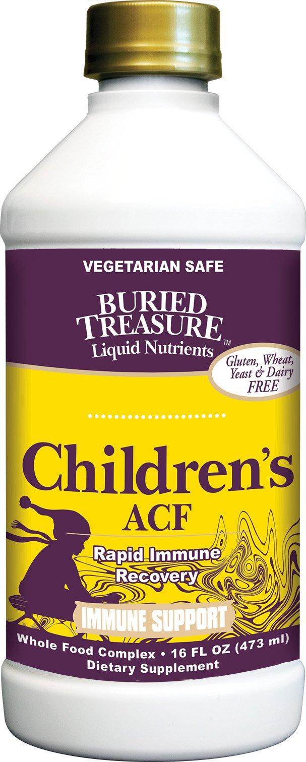 Buried Treasure Children's ACF Rapid Immune Support Herbal Blend with Vitamin C, Elderberry, Enchinacea 16 oz