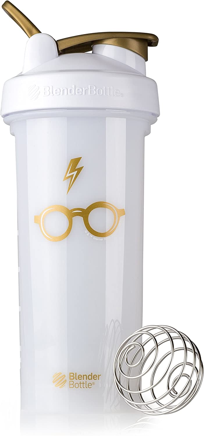 Blender Bottle Harry Potter Pro Series 28-Ounce Shaker Bottle, Bolt & Glasses