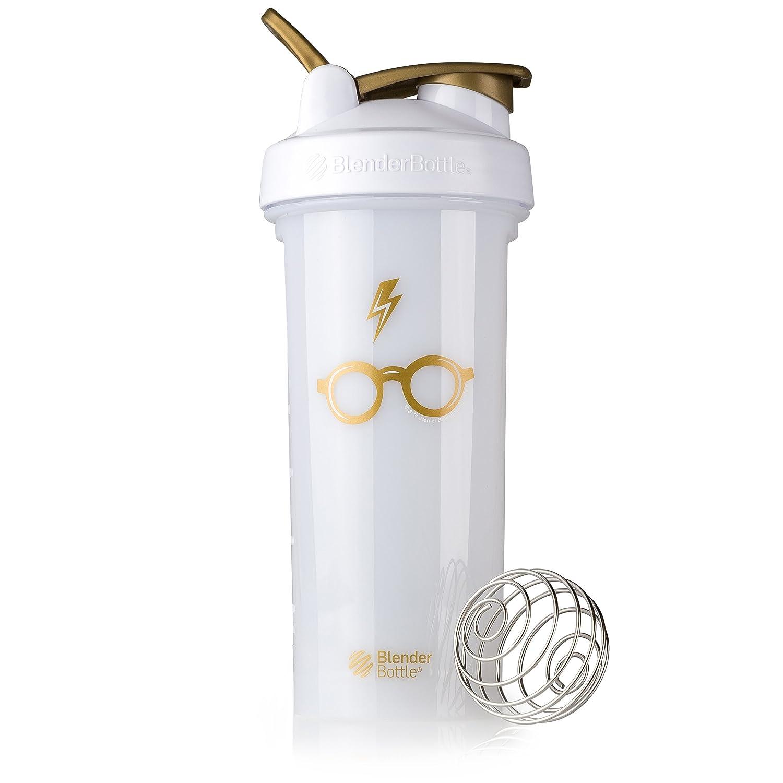 BlenderBottle Harry Potter Pro Series 28-Ounce Shaker Bottle, Bolt & Glasses