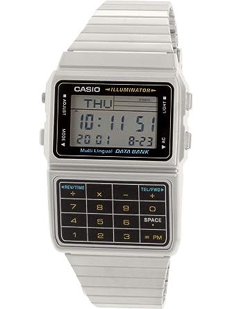 Amazon Com Casio Men S Silver Tone 25 Memory Calculator Databank