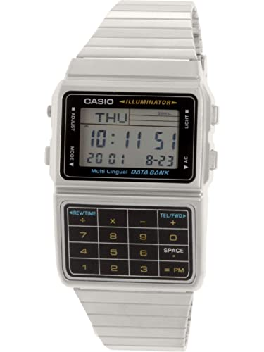 Casio Men's DBC-611-1 Silver Tone 25 Memory Calculator Databank Watch