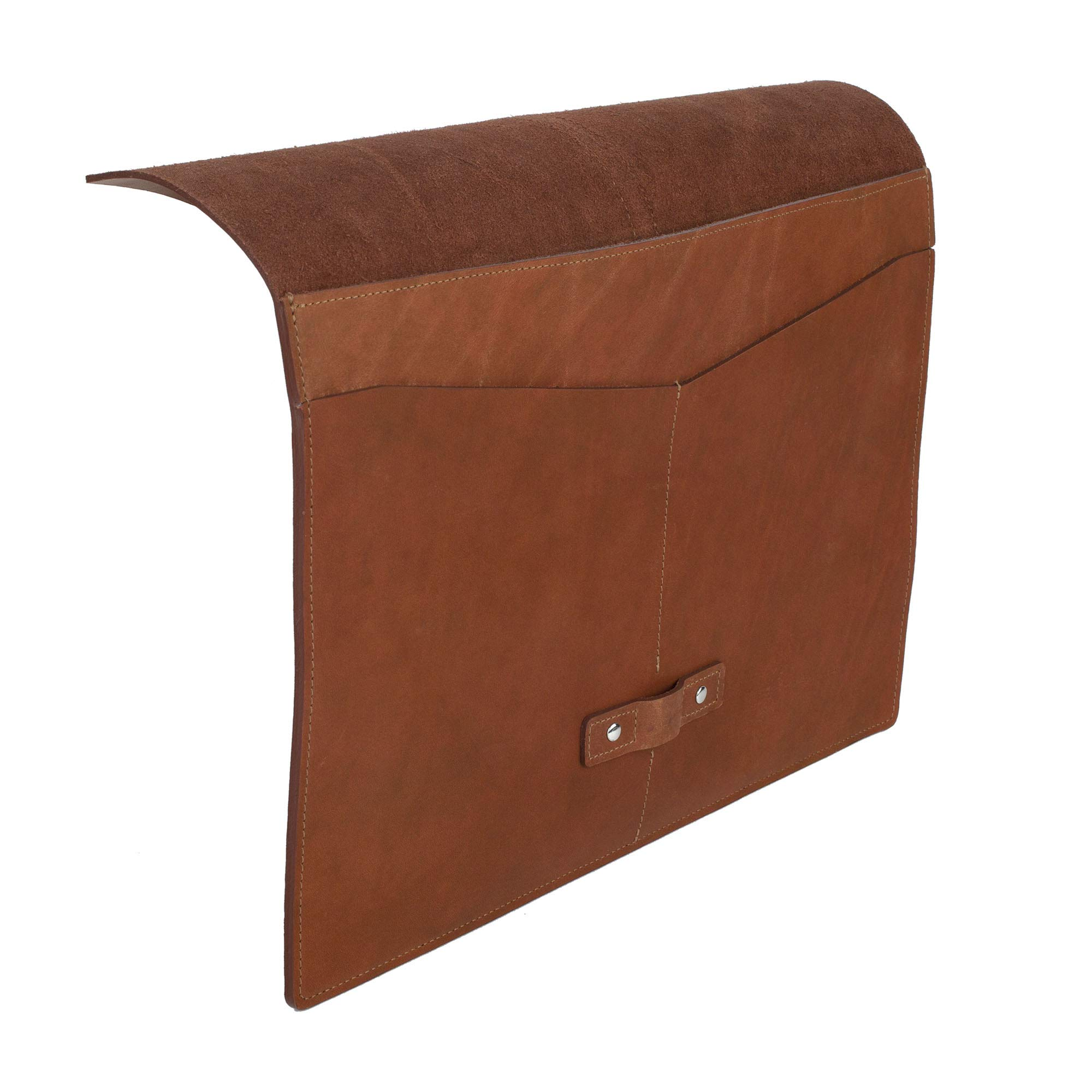 SLATE COLLECTION Belltown Small Laptop Sleeve, Full-Grain Leather (Cognac, fits 13'' Laptop) by SLATE COLLECTION (Image #7)
