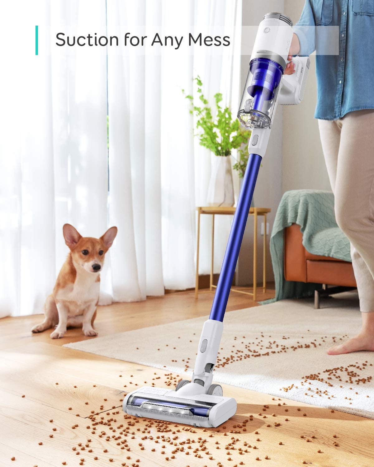 Cordless HomeVac S11 Infinity Handstick Vacuum Cleaner Lightweight eufy by Anker Deep Clean Carpet to Hard Floor 120AW Suction Power Additional Detachable Battery