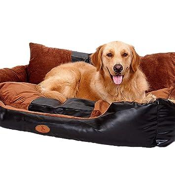 TRE Enorme Lujo Cuero De La PU Perrera Sofá para Perros Golden Retriever Cama De Perro