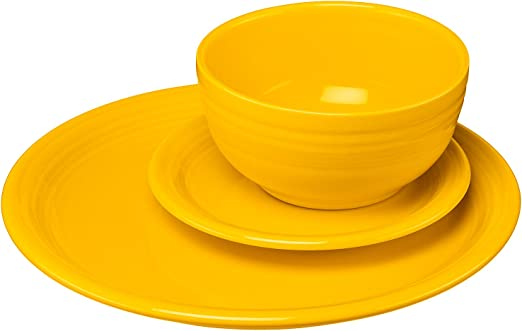 Fiestaware Daffodil Dinner Plate Fiesta Yellow 10.5 inch plate