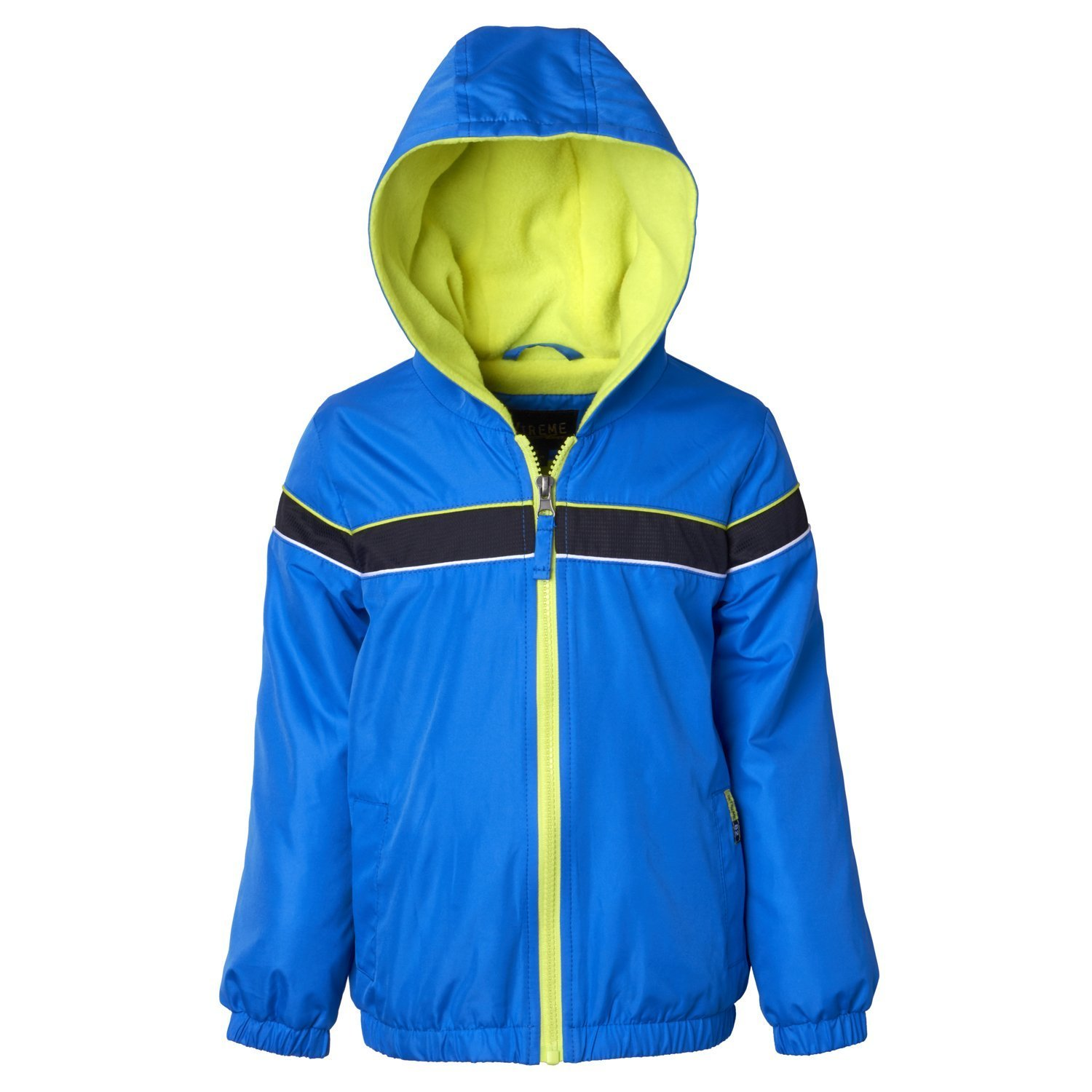 iXtreme Toddler Boys Colorblock Windbreaker With Polar Fleece Lining IX803397-BLU-4B