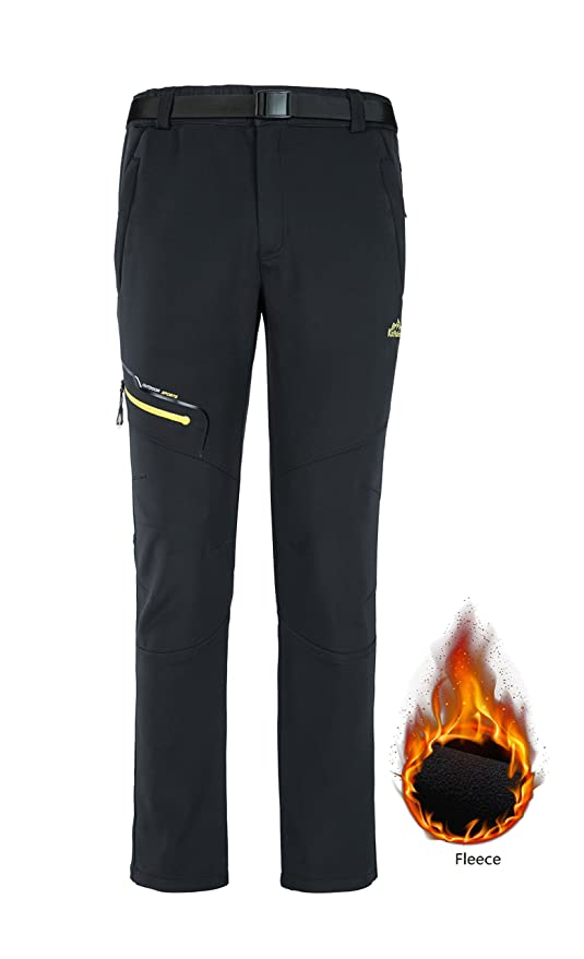 Amazon Com Zhi Made Womens Fleece Lined Hiking Pants Waterproof