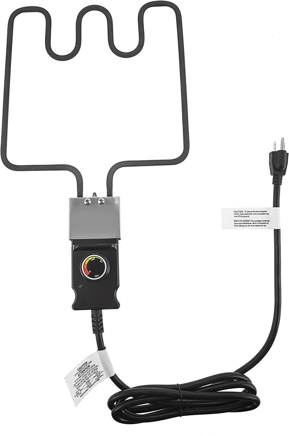 Electric Smoker and Grill Heating Element with Adjustable Thermostat Cord Controller for Masterbuilt Smokers & Turkey Fryers