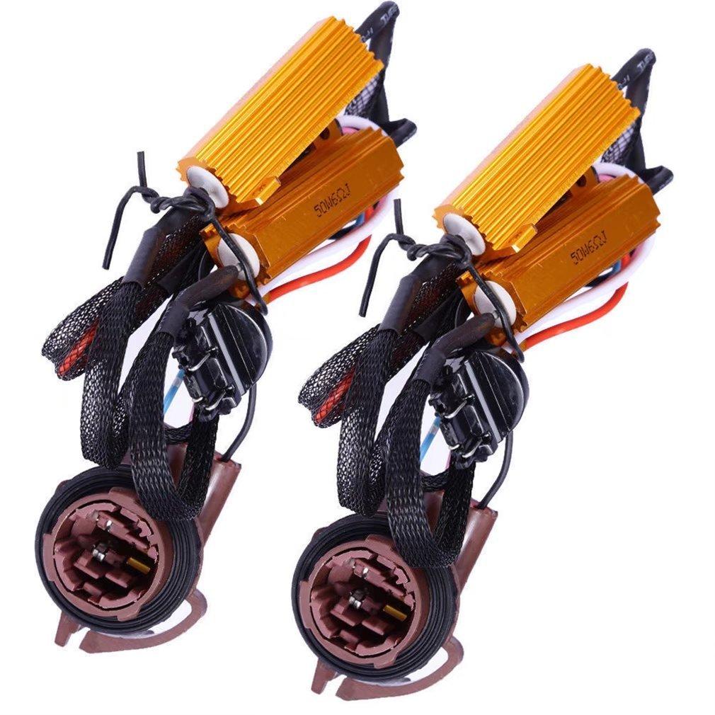 Paddsun 3157 4157 3057 50W 8 Ohm LED Lights Load Resistor Adapter Fix Hyper Flashing Rapid Blinking Canbus Error Code Eliminator Warning Canceller for Turn Signal Reverse Backup Daytime Running DRL