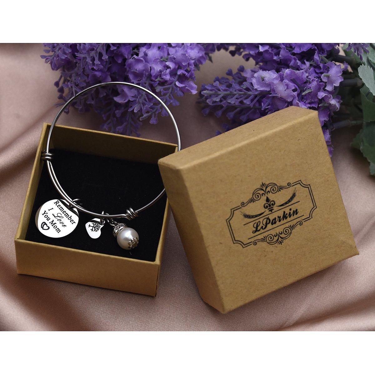 Remember I Love You Mom Bangle Bracelet (White) by LParkin (Image #6)