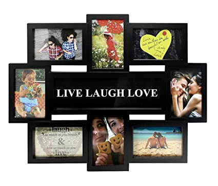 Close Up Portaretratos Multiple Live-Laugh-Love [Negro] (56cm x 44cm