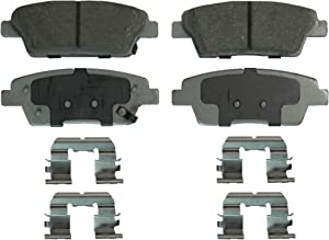 Wagner ThermoQuiet QC1551 Ceramic Disc Pad Set With Installation Hardware, Rear