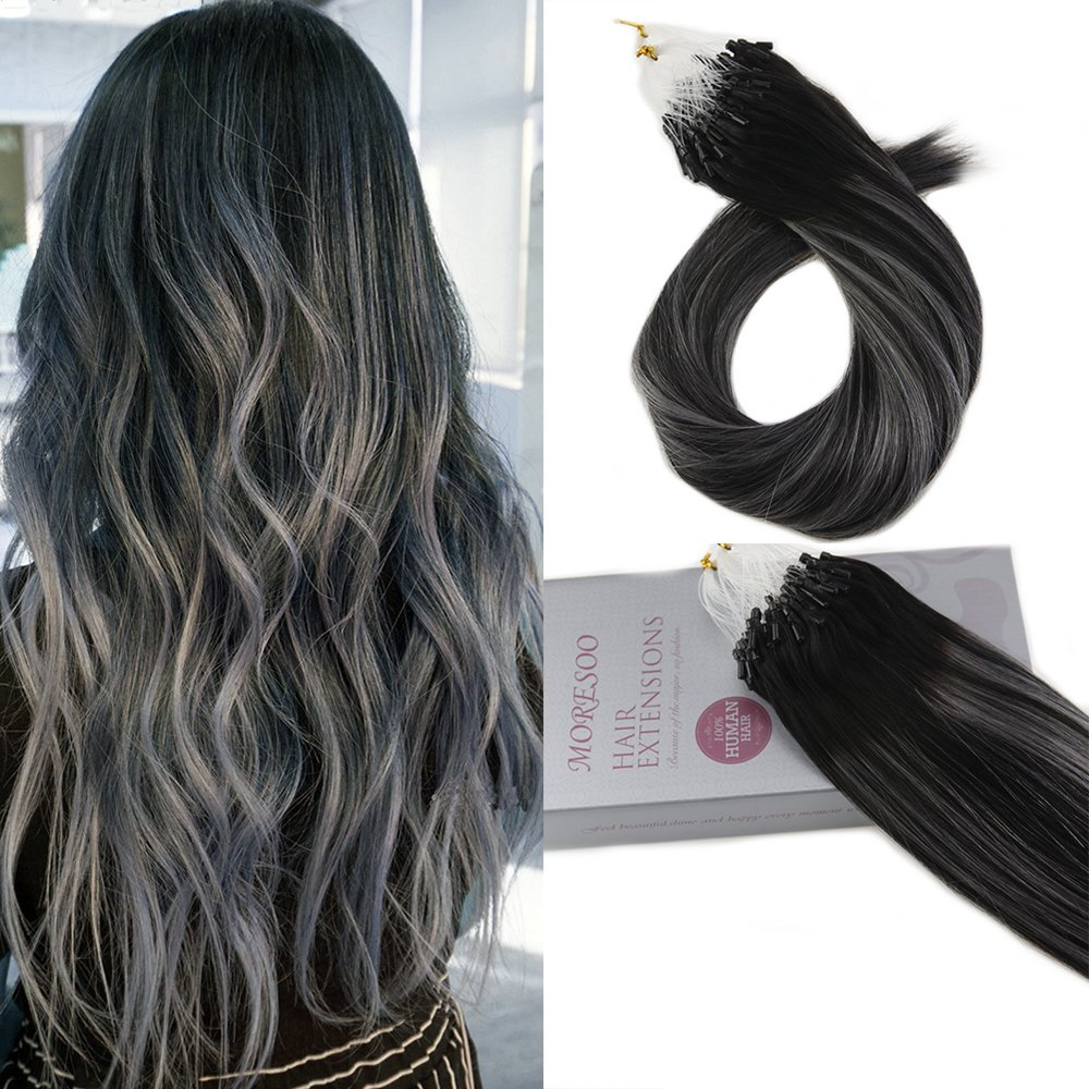 Amazon Moresoo Micro Ring Hair Extensions Human Hair Balayage