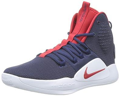 finest selection e84be 50691 Nike Herren Hyperdunk X Basketballschuhe Mehrfarbig (Midnight  Navy University Red White 400)