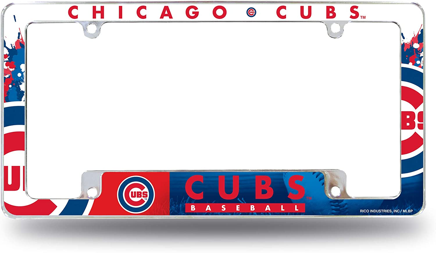 Rico Industries Cubs All Over Chrome Frame, One Size