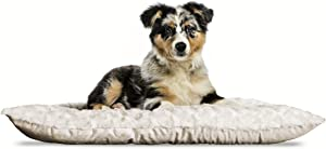 Furhaven Pet Dog Bed - Snuggly Bolster Bed & Tufted Pillow Cushion Nap Mat Kennel or Crate Bed for Dogs & Cats - Available in Multiple Colors & Sizes