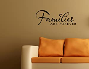 FAMILIES ARE FOREVER Vinyl wall lettering stickers quotes and sayings home ar...