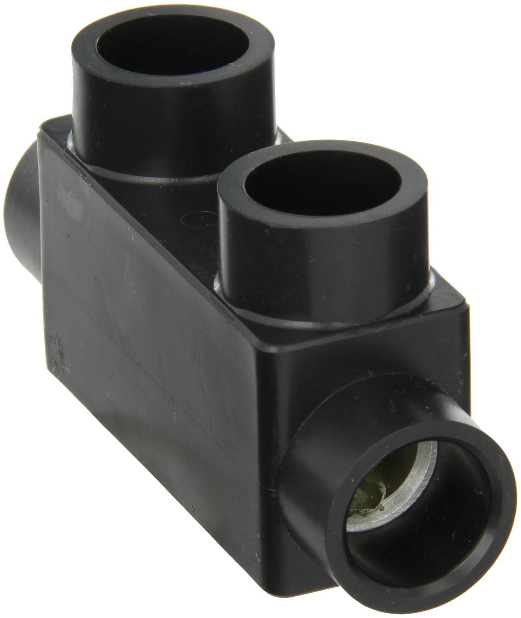 Morris Products 97021 Insulated In-Line Splice, Black, 250 - 6 Wire Range, 5/16'' Allen Hex, 4.00'' Length, 1.13'' Width, 2.25'' Height