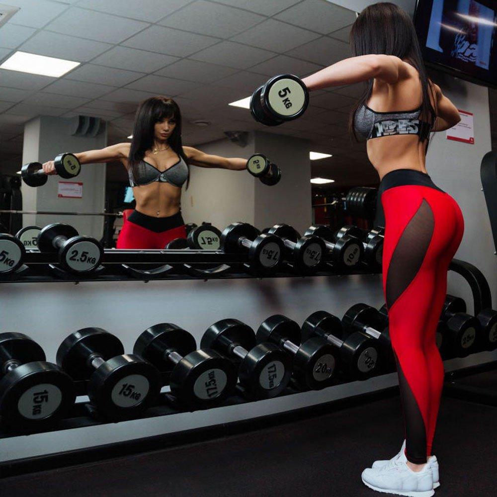 TLoowy-Clearance Yoga Pants for Women Mesh Leggings Sports Gym Athletic Sweatpants High Waist Slim Skinny Activewear Trousers