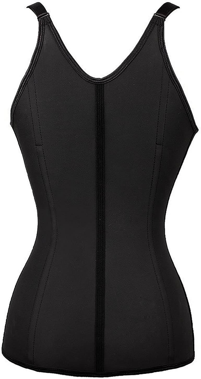 Everbellus Donna Latex Regolabile Shapewear Corsetto Bustino Vita Trainer Cincher Corpo Shaper