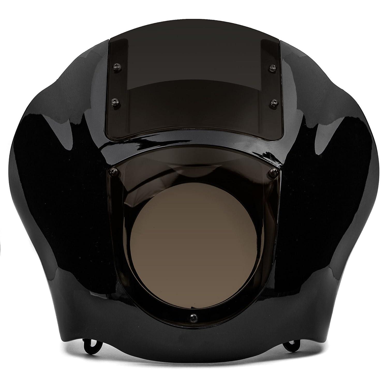 Krator NEW Black /& Smoke Quarter Fairing Windshield Kit for Harley Davidson XL FXR Dyna for 2009-2017 Harley Davidson Iron 883 XL883N