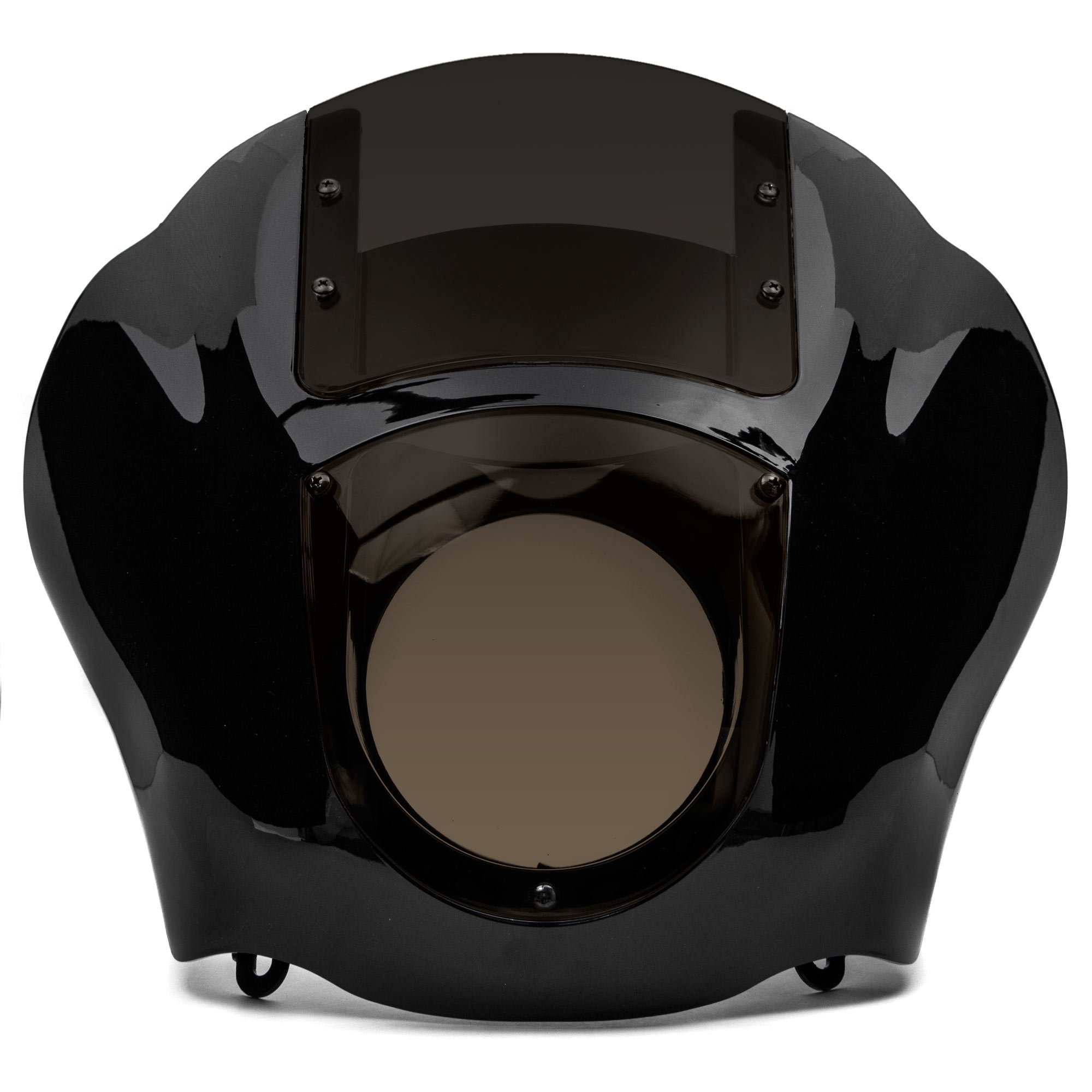 Krator NEW Black & Smoke Quarter Fairing Windshield Kit for Harley Davidson XL FXR Dyna