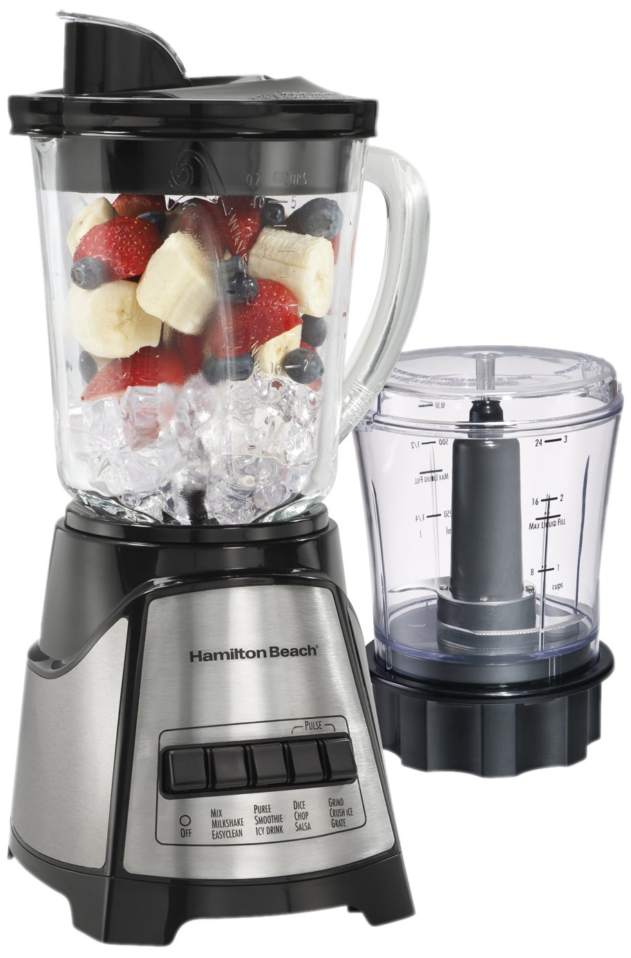 Hamilton Beach 58149 Power Elite Multi-Function Blender, Includes Chopper Attachment