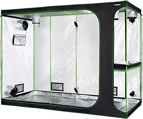 VIVOSUN 2-in-1 108 x48 x80 Mylar Reflective Grow Tent for Indoor Hydroponic Growing System
