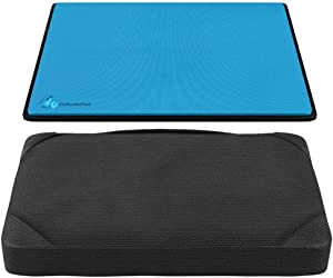 "DefenderShield DefenderPad Laptop Radiation Heat Shield and DefenderPad Accessory Pillow Bundle – EMF and 5G Blocker- Anti-Radiation Notebook Computer Lap Pad / Lapdesk Compatible 17"" laptops"