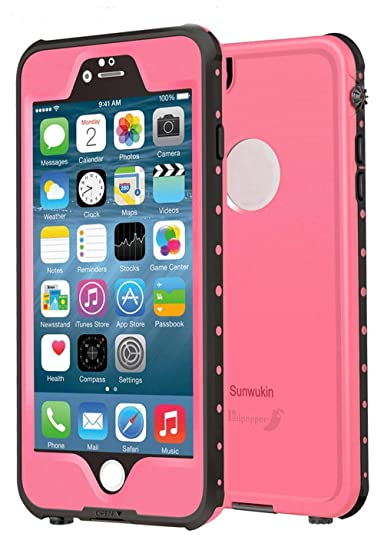 reputable site 3a949 19ea9 Sunwukin Waterproof Case for iPhone 6s 6 Water Proof Cases, Dot Series IP68  Certified 6.6ft Underwater Shockproof Snowproof DirtPoof Protection Cell ...