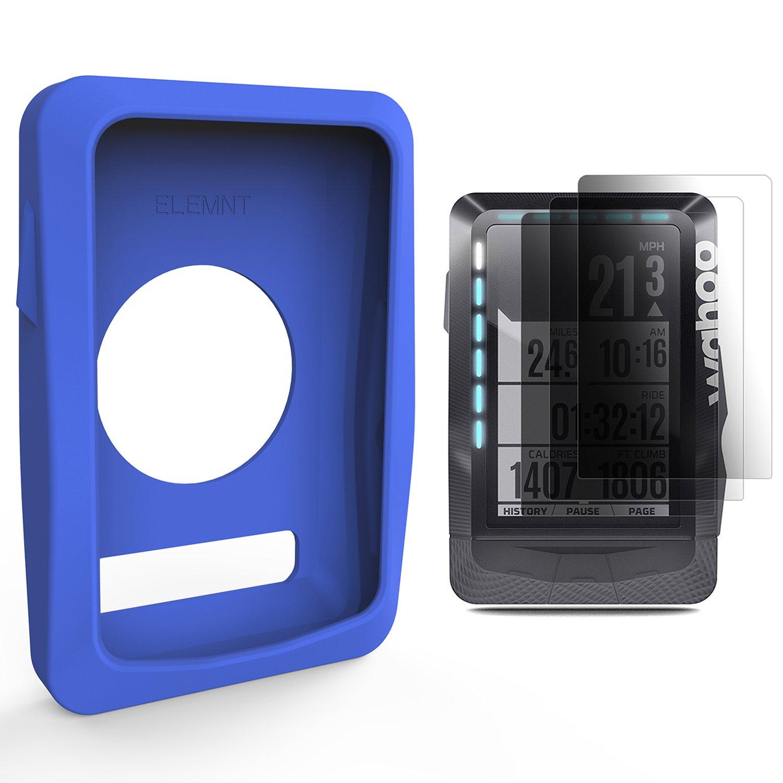 TUSITA Schutzhülle mit SchirmSchutz für Wahoo Elemnt, Fahrrad GPS Computer Silikon Abdeckungs Haut Shell