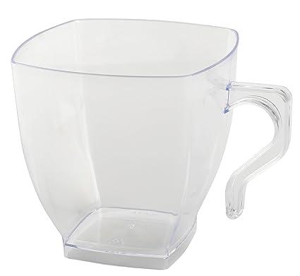 amazon com kaya collection clear fancy hard plastic coffee cups