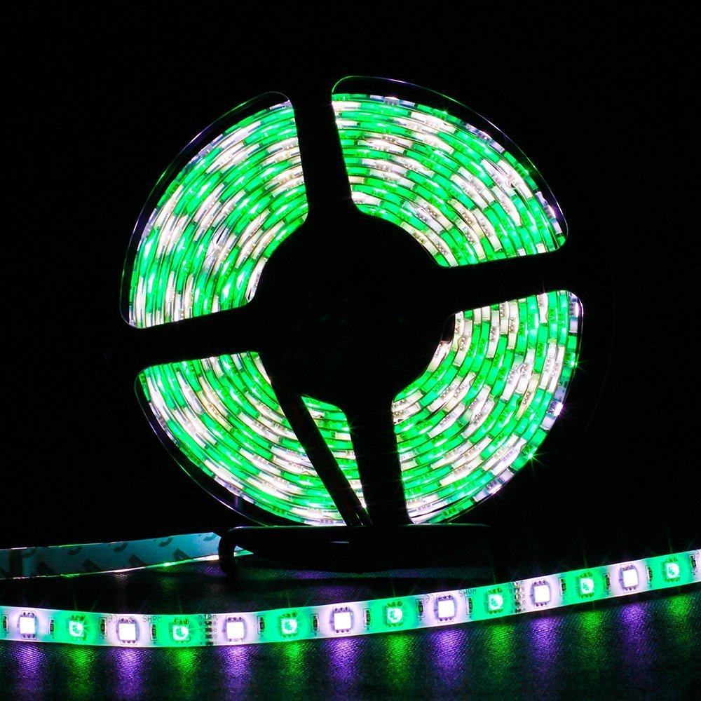 SUPERNIGHT 16.4ft 5050 300leds Waterproof RGBW LED Strip Flexible Light - Black Roll by SUPERNIGHT (Image #5)